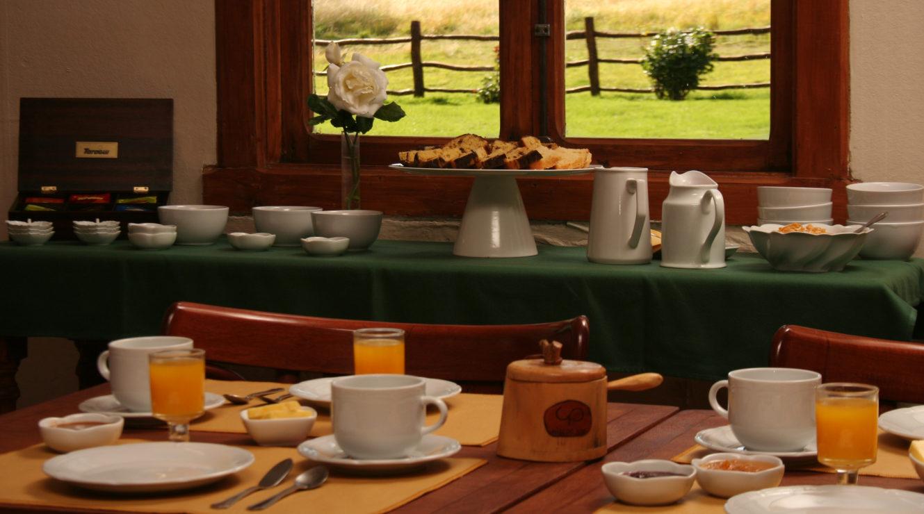 Breakfast at Patagonian Ranch