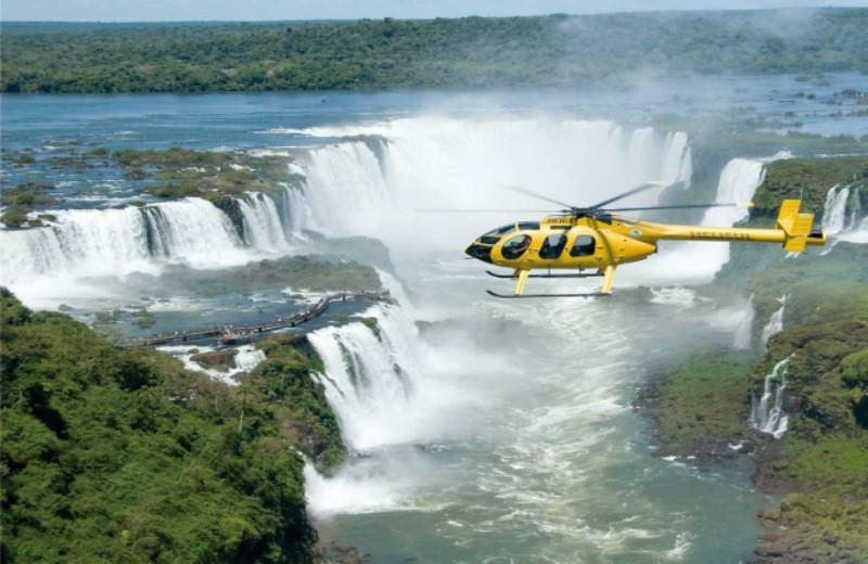 Helicopter over Iguazú Falls