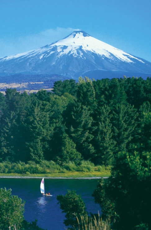 Chilean Lake District Landscape