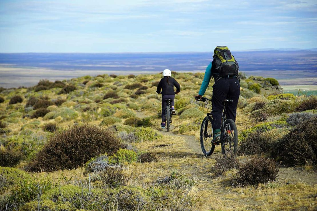 Biking in Patagonia Argentina
