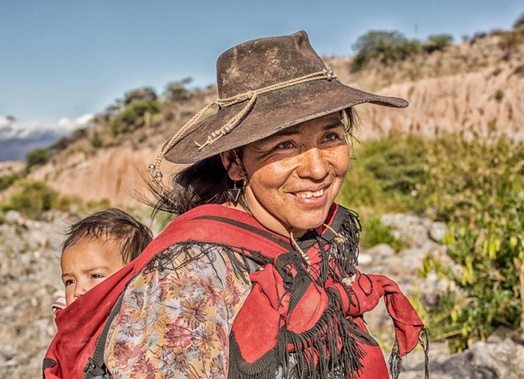Native Woman & Baby