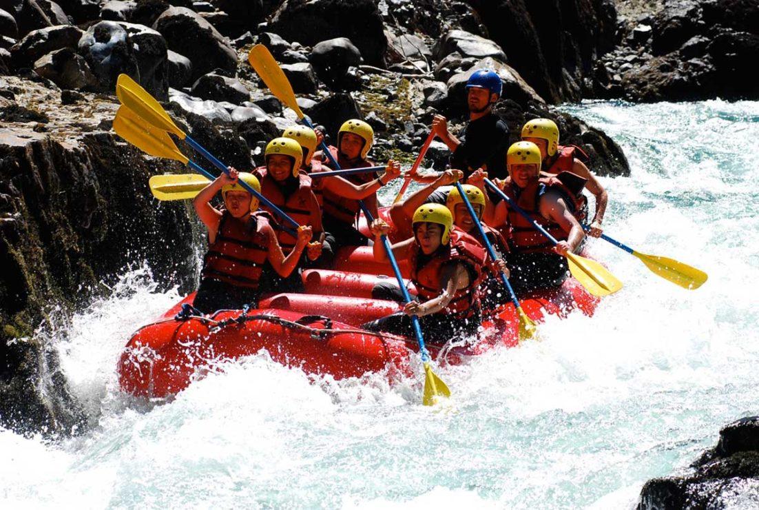 Water rafting in Patagonia