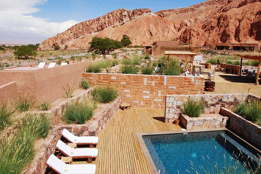 Pool view- Echo-lodges in Atacama