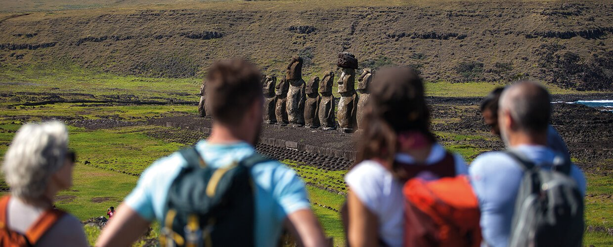 Standing Sentinels in Easter Island