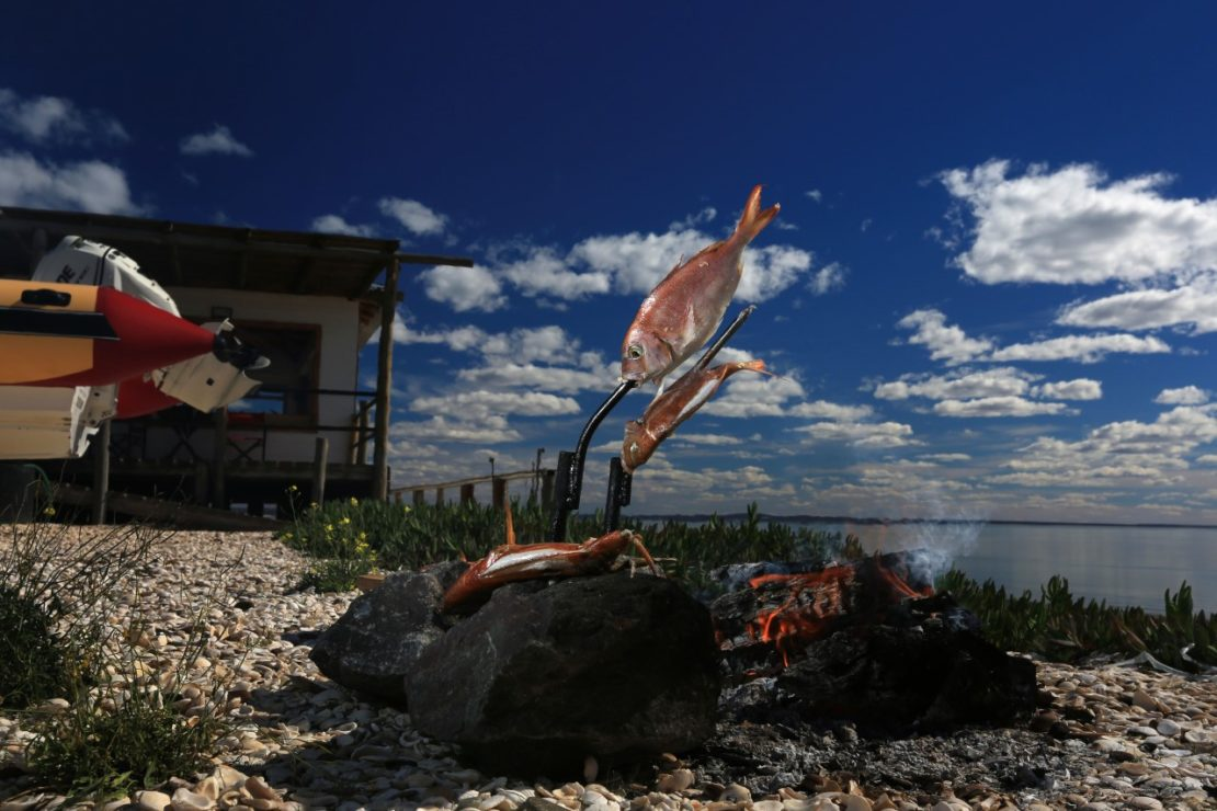 Outdoor fire cooking in Patagonia